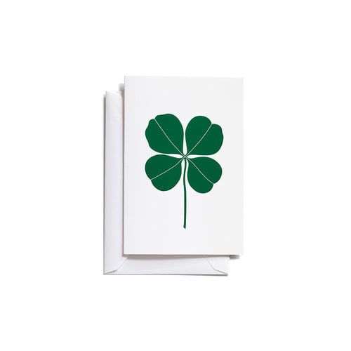 [Vitra] Greeting Cards_Four Leaf Clover (Green)